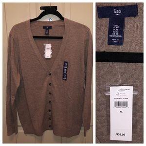 Gap Cardigan with 3/4 Length Sleeve